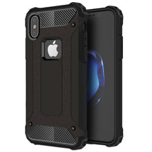 Load image into Gallery viewer, iPhone XS Black Armor Case