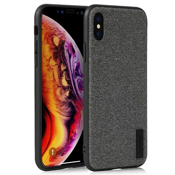 iPhone X Grey Fabric Texture Case