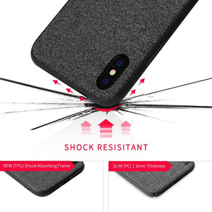 Best iPhone X Fabric Texture Case - Free Next Day Delivery