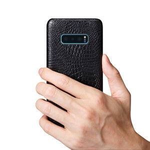 Best Samsung S10E Crocodile Leather Case - Free Next Day Delivery
