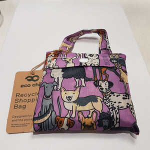 Eco Chic Foldable Shopper Dogs