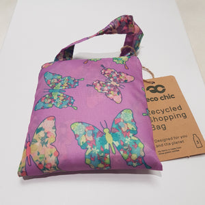 Eco Chic Foldable Shopper Butterflys