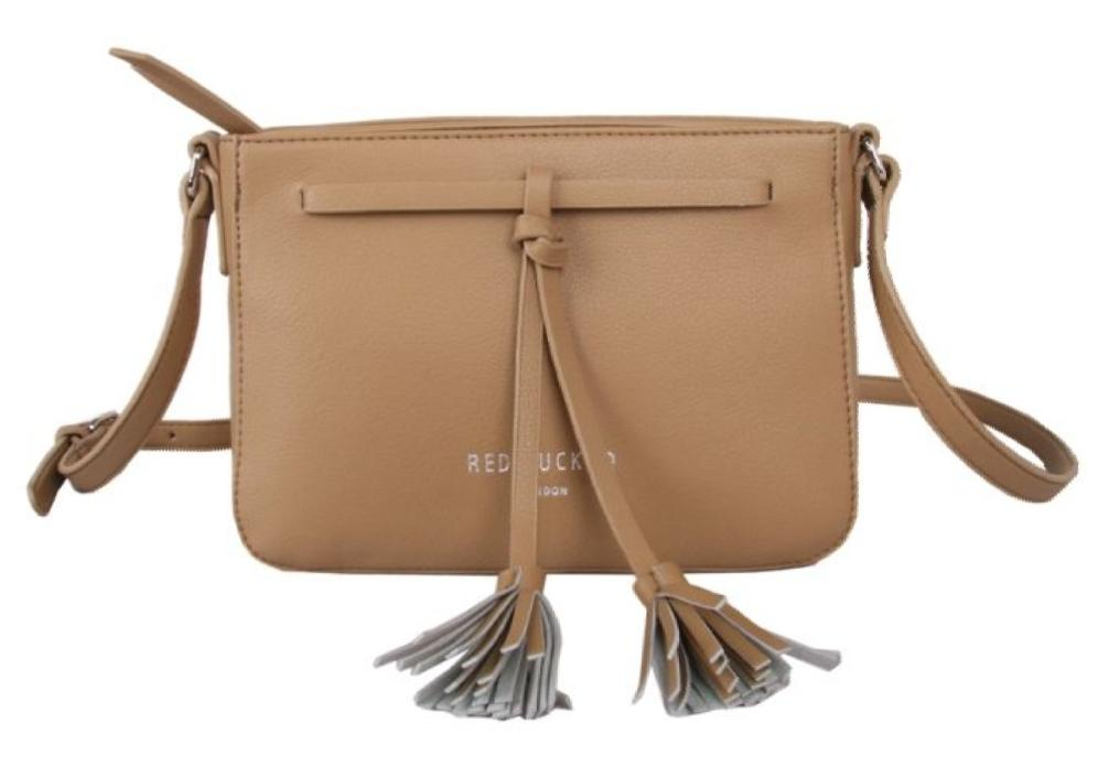 Red Cuckoo Taupe Cross Body Tassel Bag - Pursenalities_uk