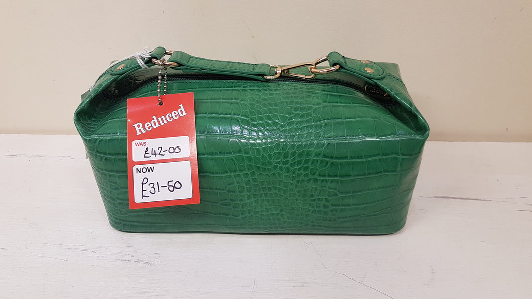 SALE Red Cuckoo Green Shoulder Bag