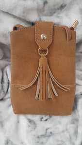 Small Summer faux suede Cross Body bag