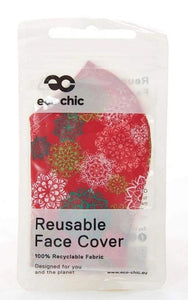 Eco Chic reusable face mask - Christmas patterns - Pursenalities_uk