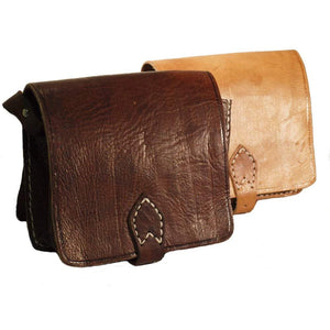 Berber Leather Small Square Tan Saddle Bag - Pursenalities_uk