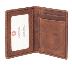 Cactus Leather Card and ID holder RFID