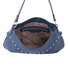 Load image into Gallery viewer, Red Cuckoo Navy Studded Shoulder bag