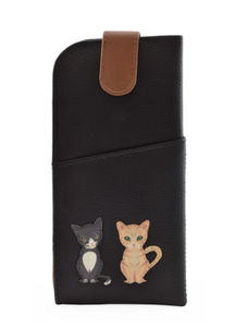 Mala - Best Friends Sitting Cats Leather Glasses Case