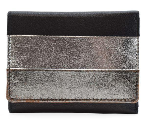 Mala Burchell Metallic Compact Purse with RFID