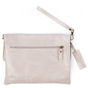 Amilu Beige Henley Leather Cross Body Bag/Clutch - Pursenalities_uk