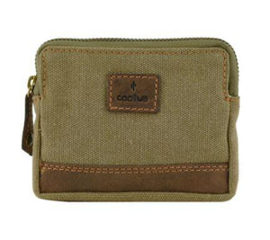 Cactus Canvas/leather Coin Purse RFID - Pursenalities_uk