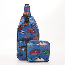Load image into Gallery viewer, Eco Chic Foldable Cross Body Bag Mini Cars