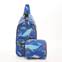 Load image into Gallery viewer, Eco Chic Foldable Cross Body Bag Sea Creatures
