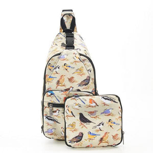 Eco Chic Foldable Cross Body Bag Wild Birds