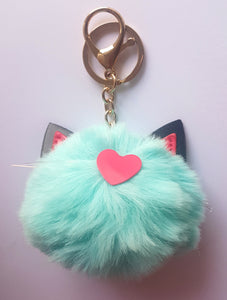 NEW - Pom Pom Keyrings and Bag Charms