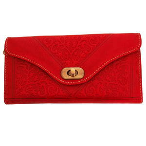 Berber Leather Red Decorative Purse