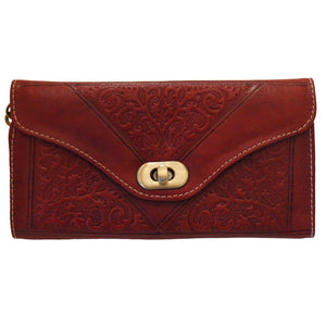 Berber Leather Dark Red Decorative Purse - Pursenalities_uk