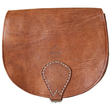 Load image into Gallery viewer, Berber Leather Half Moon Tan Saddle Bag