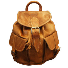 Load image into Gallery viewer, Berber Leather Small Tan Rucksack - Pursenalities_uk