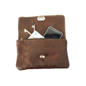 Berber Leather Dark Brown Soft Leather Shoulder bag with Clasp - Pursenalities_uk