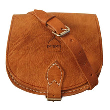 Load image into Gallery viewer, Berber Leather Small Half Moon Tan Saddle Bag - Pursenalities_uk