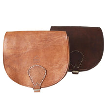 Load image into Gallery viewer, Berber Leather Half Moon Dark Brown Saddle Bag - Pursenalities_uk