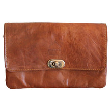 Load image into Gallery viewer, Berber Leather Tan Soft Leather Shoulder bag with Clasp