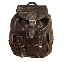 Load image into Gallery viewer, Berber Leather Large Dark Brown Rucksack