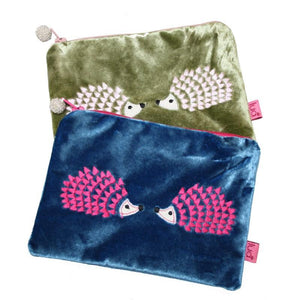 Lua Hedgehog Velvet coin Purse - Pursenalities_uk