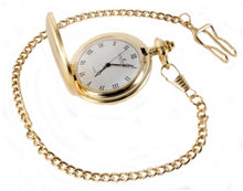 Load image into Gallery viewer, Gold Brushed Quartz full Hunter Pocket Watch