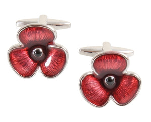 Enamel Poppy Cufflinks