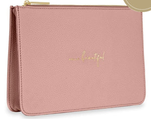 "Katie Loxton Structured Pink Pouch ""Hello Beautiful"""