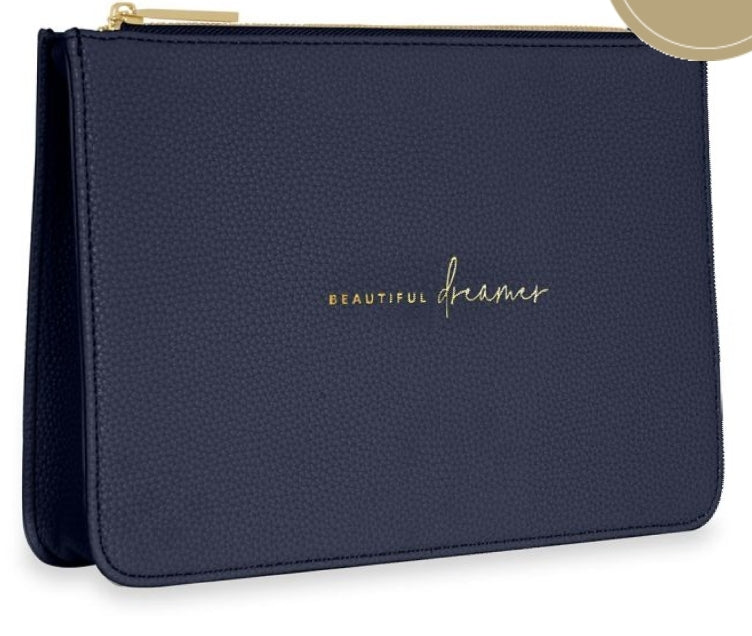 Katie Loxton Structured Navy Pouch