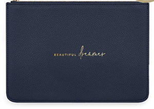 "Katie Loxton Structured Navy Pouch ""Beautiful Dreamer"""