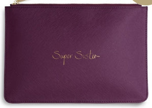 "Katie Loxton Berry Purple Perfect Pouch ""Super Sister"""