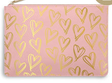 "Load image into Gallery viewer, Katie Loxton Pink Perfect Pouch ""Heart Print"""