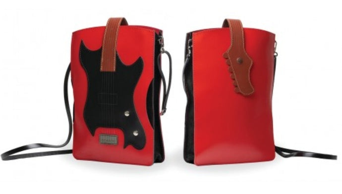 The Music Gifts Co. Leather Electric Guitar cross body bag
