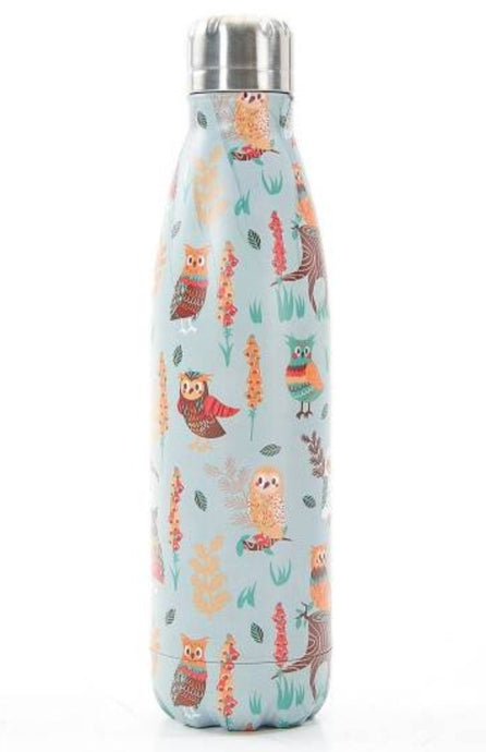Eco Chic The Bottle - Pale blue Owls