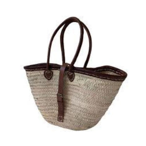 BasketBasket Leather Trim Buckle Basket