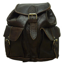 Load image into Gallery viewer, Berber Leather Small Dark Brown Rucksack - Pursenalities_uk