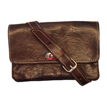 Load image into Gallery viewer, Berber Leather Dark Brown Soft Leather Shoulder bag with Clasp - Pursenalities_uk