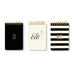 Kate Spade New York Mini Spiral set of 3 Notebooks - Pursenalities_uk