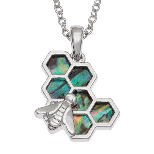 Tide Jewellery Honeycomb Bee Necklace