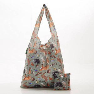 Eco Chic Foldable Shopper Woodland Creatures