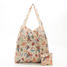 Load image into Gallery viewer, Eco Chic Foldable Shopper Owls