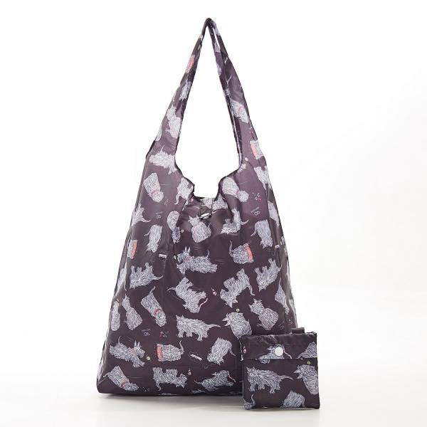 Eco Chic Foldable Shopper Scatty Scotty Dogs