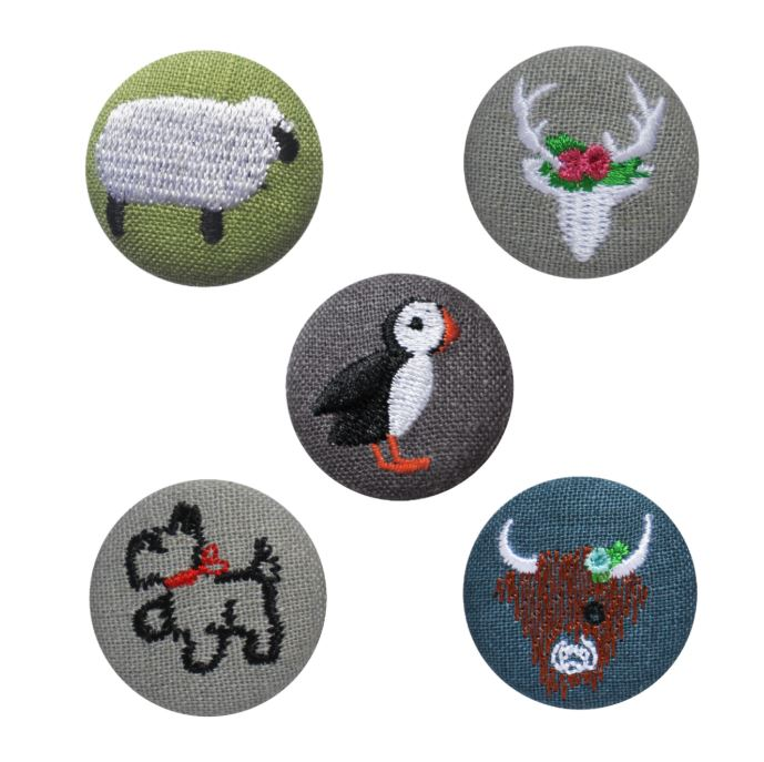 Earth Squared Embroidered Animal Badge