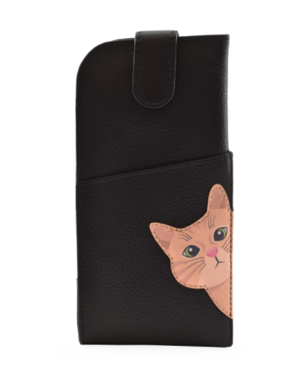 Mala - Cleo the Cat Leather Glasses Case